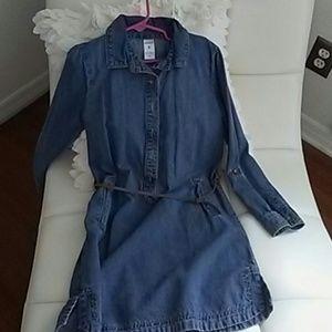 Carters girls jean dress size 8